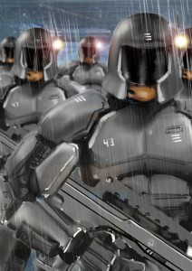 The Iron-Clads - armoured shock troops used by The Path to bully, intimidate and brutalise the people of Britain.